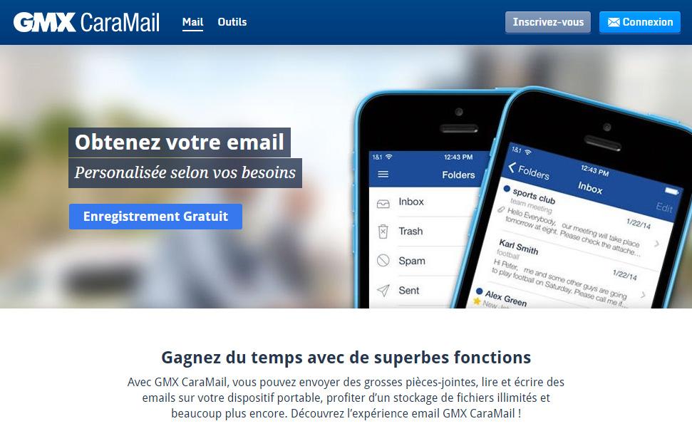 GMX Mail connexion