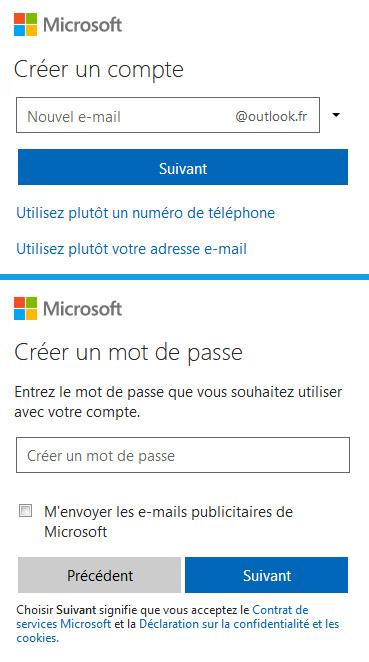 Créer un compte Hotmail - Outlook.com