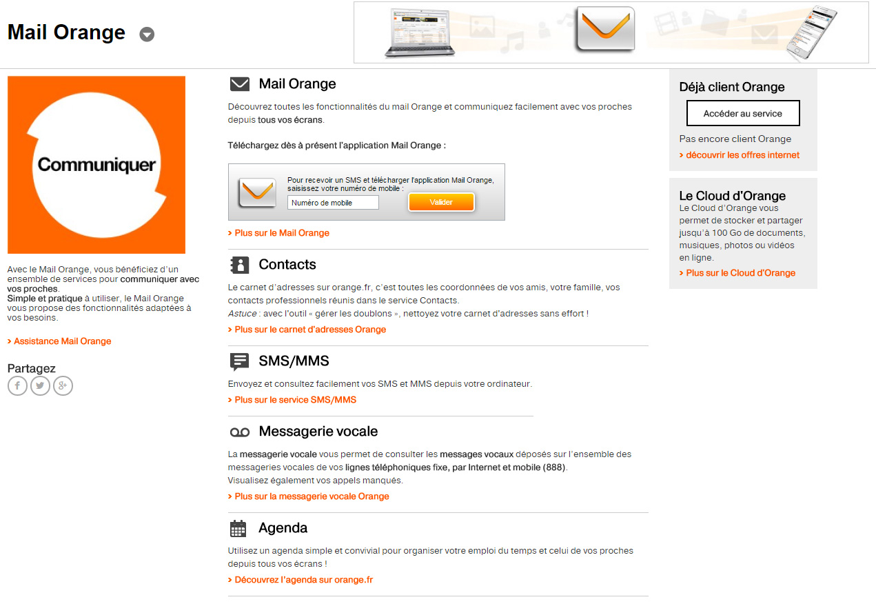 Messagerie Orange - Orange Mail | Connexion