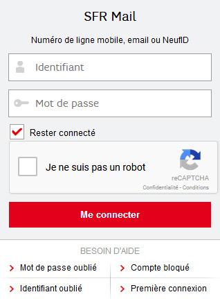 SFR Mail connexion