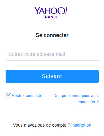 Yahoo Mail connexion